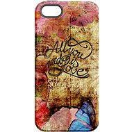 """MojePuzdro """"Láska je Všetko"""" + ochranné sklo na iPhone 5s/SE - Ochranný kryt"""