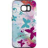 """MojePuzdro """"Biely motýľ"""" + ochranná fólia na Samsung Galaxy S6 Edge - Ochranný kryt"""