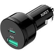 Aukey Adaptive USB-C Charge 2.0 2- Port Car Charger - Nabíjačka do auta
