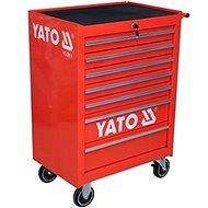 YATO Skříňka dílenská pojízdná 7 zásuvek červená - skriňa