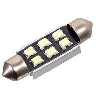 Žiarovka 6 SMD LED 12V suf. SV8.5 38mm s rezistorom CAN-BUS biela - Autožiarovka