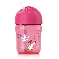 Philips AVENT fľaša so slamkou 260ml, ružový - Detská fľaša