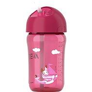 Philips AVENT hrnček so slamkou 340 ml, ružová - Detská fľaša