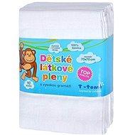 T-tomi Pleny látkové 10 ks - bílé - Detské plienky