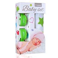 T-tomi Baby Set - zelené hviezdičky - Detský set