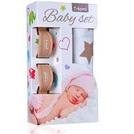 T-tomi Baby Set - béžové hviezdičky - Detská súprava