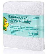 T-tomi Bambusové žinky 4ks - Biela - Špongia