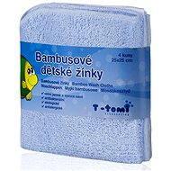 T-tomi Bambusové žinky 4ks - Modrá - Špongia