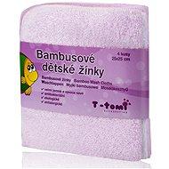 T-tomi Bambusové žinky 4ks - Ružová - Špongia