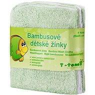 T-tomi Bambusové žinky 4ks - Zelená - Špongia