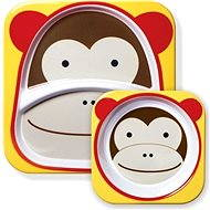Skip hop Zoo Jedálenská súprava - Opička - Jedálenská sada pre deti