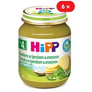 HiPP BIO Zemiaky so špenátom a so smotanou - 6x 125g - Detský príkrm