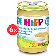 HiPP BIO Zeleninová polievka s kuracím mäsom - 6x 190g - Detský príkrm