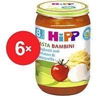 """HiPP BIO Paradajky so špagetami a mozzarellou """"Pasta Bambini"""" bezmäsitý - 6x 220g - Detský príkrm"""