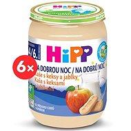 HiPP BIO Kaša na dobrú noc s keksami a jablkami - 6x 190g - mliečna kaša