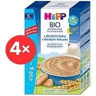 HiPP BIO Mliečna kaša na dobrú noc s detskými keksami - 4x 500g - mliečna kaša
