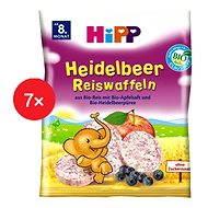 HiPP BIO Čučoriedkové ryžové oblátky - 7x 30g - Sušienky