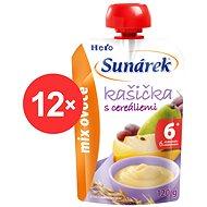Sunárek kašička mix ovocie - 12x 120g - detský príkrm