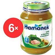 Hamánek Králik so špenátom a zemiakmi 6x 190g - Detský príkrm