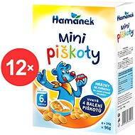 Hamánek minipiškoty 12x (4x 24g) - Piškoty