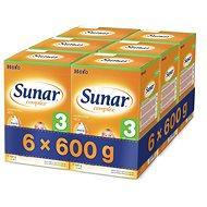 Sunar Complex 3 - 6x 600g - Dojčenské mlieko