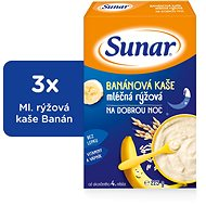 Sunarka banánová kašička na dobrú noc - 3x 225g + DARČEK - mliečna kaša