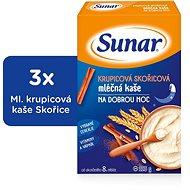 Sunarka krupicová kašička so škoricou na dobrú noc - 3x 225g + DARČEK - mliečna kaša