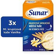 Sunarka krupicová kašička s vanilkou na dobrú noc - 3x 225g + DARČEK - mliečna kaša