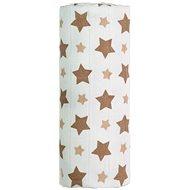 T-tomi Bambusová osuška 1ks - béžové hviezdičky + DARČEK - Detská osuška