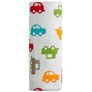 T-tomi Bambusová osuška 1ks - autá + DARČEK - Detská osuška
