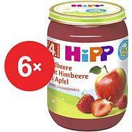 HiPP BIO Jablká s jahodami a malinami - 6 × 190 g - Detský príkrm
