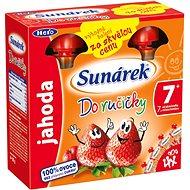 Sunárek Do ručičky jahoda - 4 × 90 g - Detský príkrm