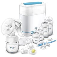 Philips AVENT Sada man.ods.+ sterilizátor parní elektrický 3 v 1 - Detská súprava