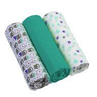 BabyOno plienky mušelínové 3 ks - zelené - Detské plienky