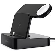 Belkin Powerhouse Charge Dock pre Apple Watch + iPhone čierny - Dobíjací stojanček