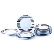Bergner SET 18 ks tanierov, porcelán STARLINE - Súprava tanierov