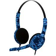 BIGBEN PS4HEADSETCAMOB, modré maskovanie - Headset