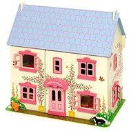 Ružový detský domček pre bábiky - Doplnok pre bábiky
