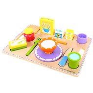 Drevené potraviny - Raňajky na podnose - Herná súprava