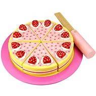 Drevený krájacie torta s jahodami - Herný set
