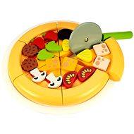Drevená krájacia pizza - Herný set