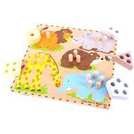 Bigjigs Drevená vkladačka - Safari zvieratká - Puzzle