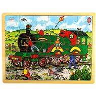 Drevené puzzle - Vlak - Puzzle