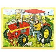 Drevené puzzle - Traktor - Puzzle