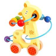 Bigjigs Motorický labyrint na kolieskach - Žirafa - Didaktická hračka