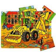 Bigjigs Drevené puzzle - Bager - Puzzle