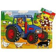 Bigjigs Drevené puzzle - Traktor - Puzzle