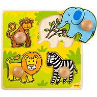 Drevené vkladacie puzzle - Safari - Puzzle