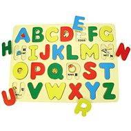 Drevené vkladacie puzzle - Anglická abeceda s obrázkami - Puzzle