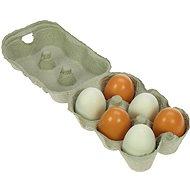 Drevené potraviny - Drevená vajíčka v krabičke - Herný set
